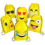 Emoticons Drawstring Backpacks