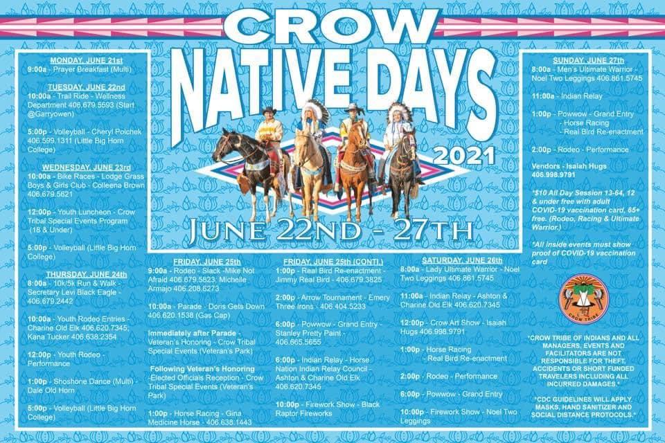 crow native days 2021 - june 22 - 27